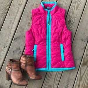 Vineyard Vines Whale Tail Embroidered Puffer Vest